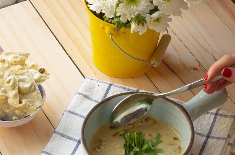 سوپ قارچ و مهياوه